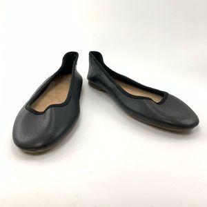 Gap black Leather Ballet Flats